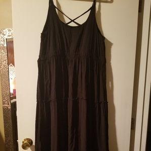 Black tiered maxi dress from Torrid